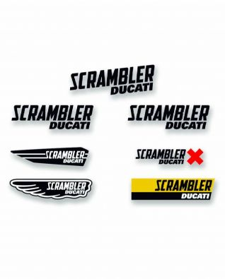 CALCOMANIAS DUCATI SCRAMBLER MULTILOGO