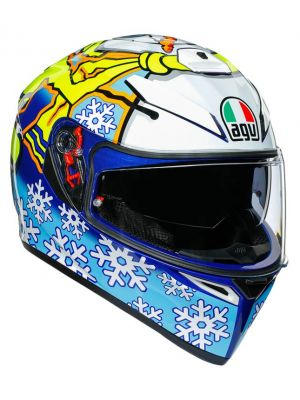 CASCO AGV K-3 SV ROSSI WINTER TEST 2016 CON PLK