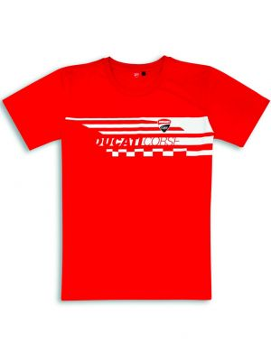PLAYERA DUCATI CORSE RED CHECK