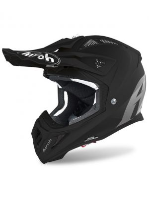 CASCO AIROH AVIATOR ACE NEGRO MATE